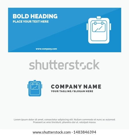 Mask, Welding, Protection, Welder, Headgear SOlid Icon Website Banner and Business Logo Template
