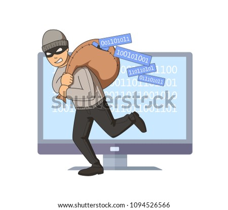 masked burglar jumping out of