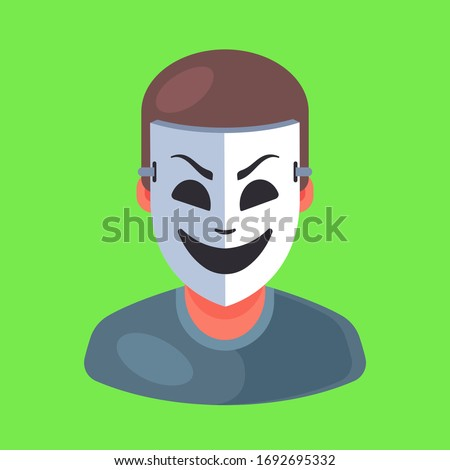 masked man icon rip off a