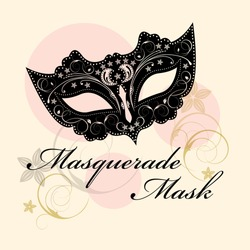 Masks For A Masquerade. Vector Butterfly Party Mask.