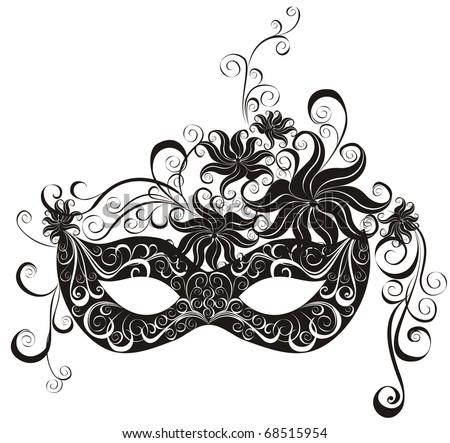 Masks for a masquerade. Vector party mask.