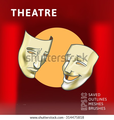 masks of comedy and drama