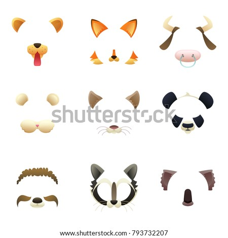 masks of funny animals ears
