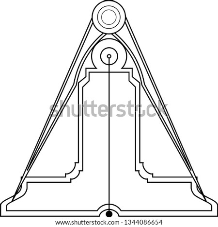 Masonic symbol of Senior Warden for Blue Lodge Freemasonry