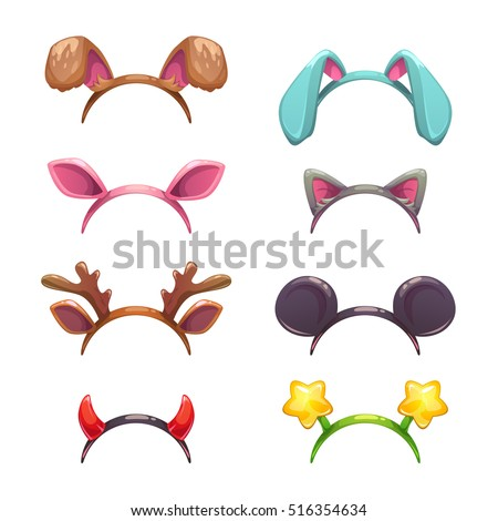 masquerade head decor  ears and