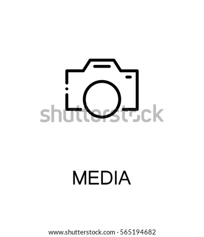 mass media icon single high