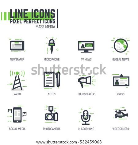 mass media line pixel style