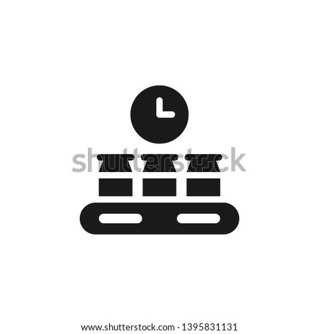 Mass production, production icon - Vector. Simple element illustration from UI concept. Mass production, production icon - Vector. Infographic concept vector illustration. on white background