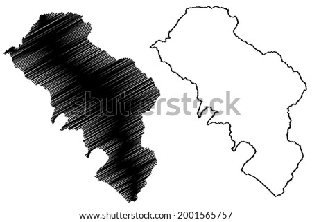 Massa and Carrara province (Italy, Italian Republic, Tuscany or Toscana region) map vector illustration, scribble sketch Province of Massa-Carrara map ストックフォト ©