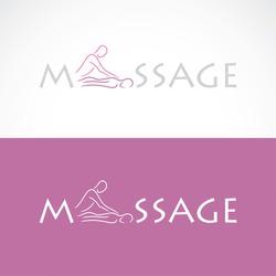 Massage label - vector illustration