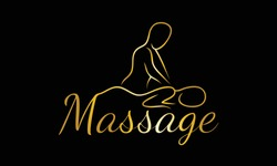 Massage Logo Design. Massage, Relaxation Spa Minimal design concept. Therapy Logo Concept.