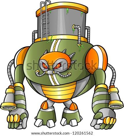 massive warrior robot cyborg