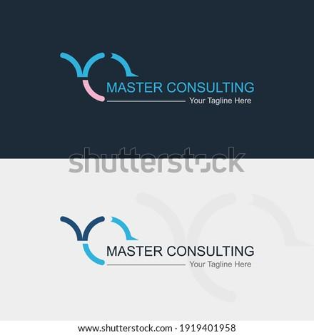 Master Building Consulting Logo- Modern Logo Design-MC initial Letter logo-Vector Zdjęcia stock ©