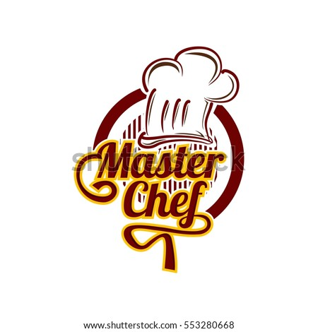 master chef logo design vector