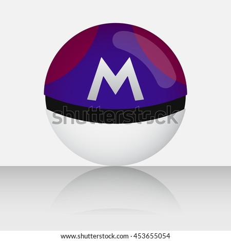 master violet game balls with m