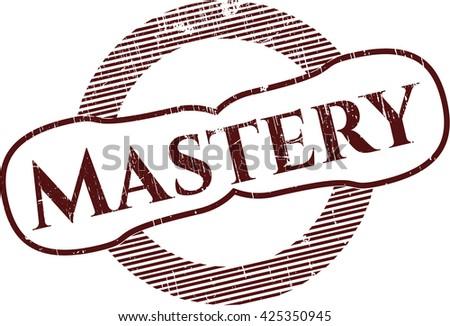 Mastery grunge stamp