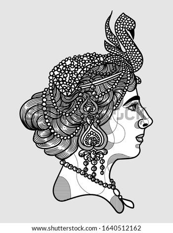 Mata Hari. Vector illustration hand drawn. Foto stock ©