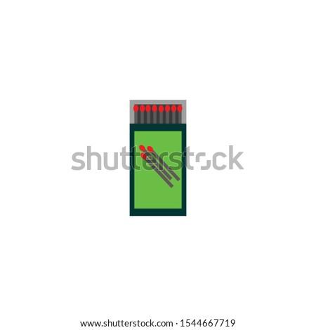 Match box with matches vector art