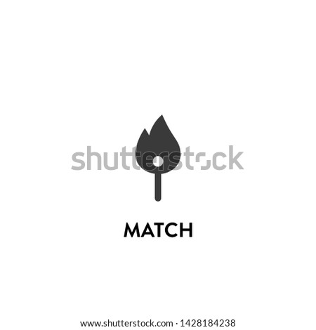 match icon vector. match vector graphic illustration