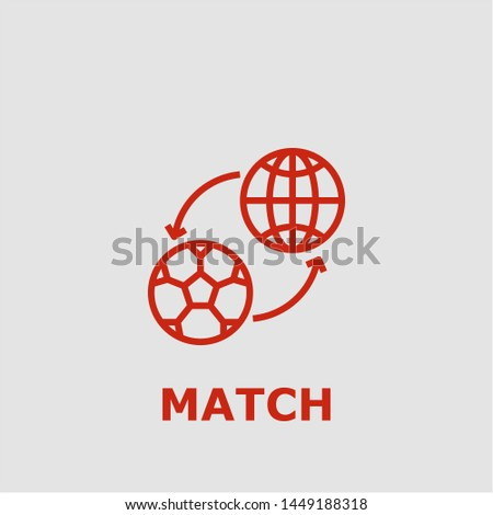 Match symbol. Outline match icon. Match vector illustration for graphic art.