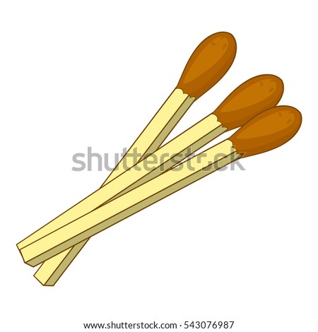 Matches icon. Cartoon illustration of matches vector icon for web design