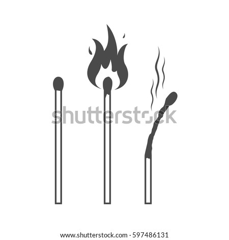 matches icons  lighted match