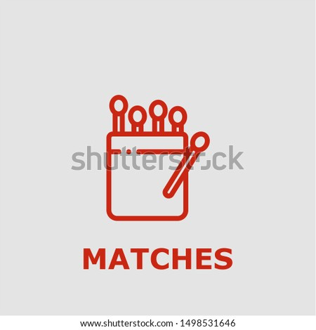 Matches symbol. Outline matches icon. Matches vector illustration for graphic art.