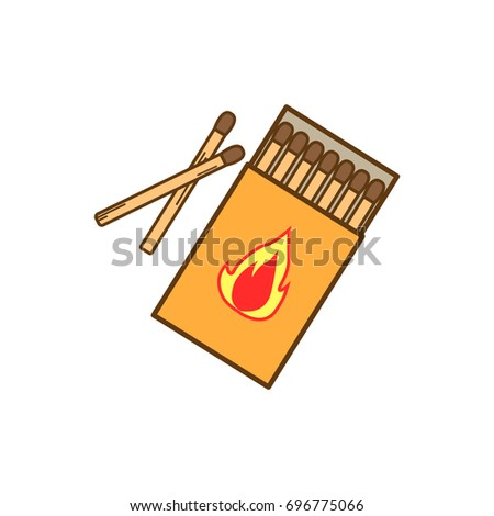 matches vector  burned match