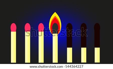 matches vector illustration