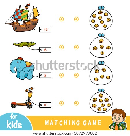 matching education game for