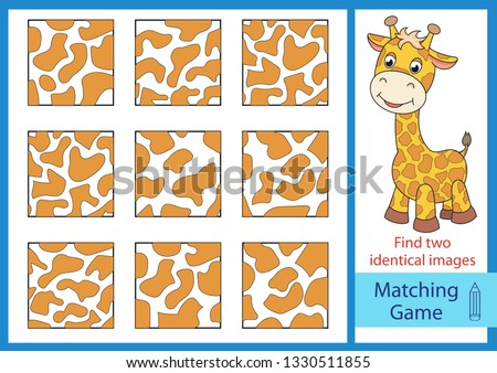 Matching game with cute animals - Download Free Vector Art, Stock