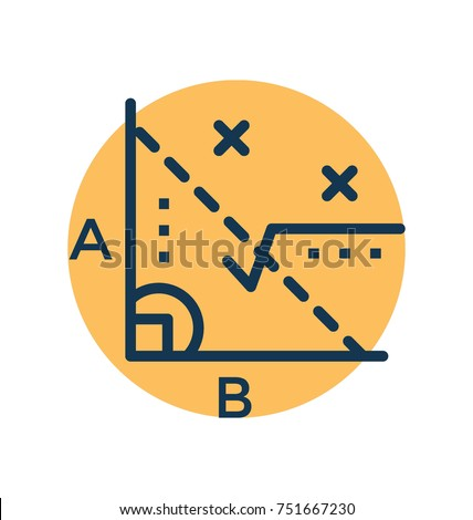 Math formula flat vector illustration