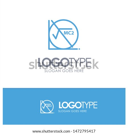 Math, Formula, Math Formula, Education Blue Logo Line Style