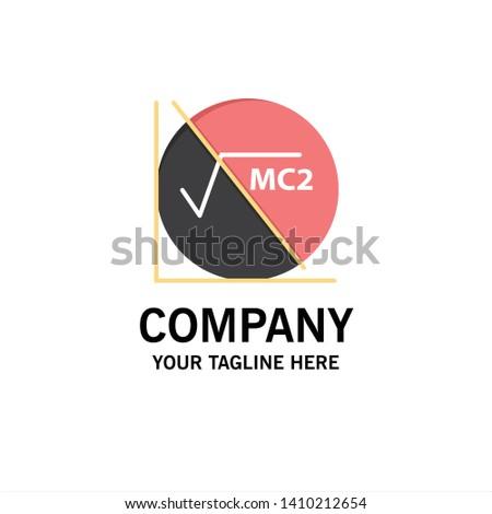 Math, Formula, Math Formula, Education Business Logo Template. Flat Color