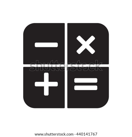 Math   icon,  isolated. Flat  design.