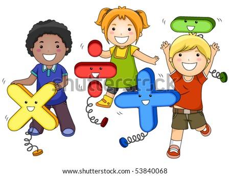Math Kids - Vector