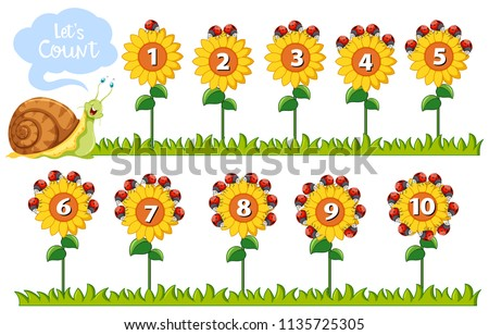 math number on flowers