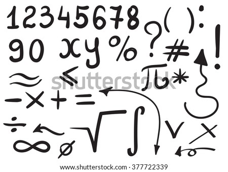 Math Symbol Hand Drawn Download Free Vector Art Stock Graphics