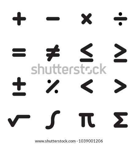 Math Symbols Icon Set