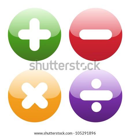 math symbols on white background
