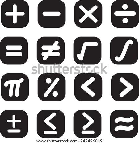 Math Symbol Button Vectors Download Free Vector Art Stock