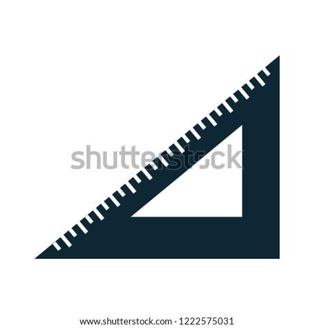 math triangle ruler icon-geometry sign-mathematics illustration-measurement illustration - education vector