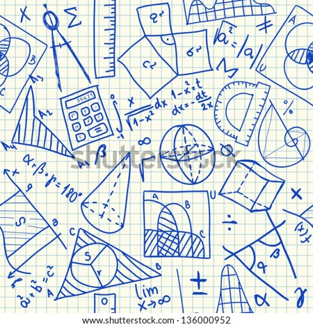 mathematical doodles on school