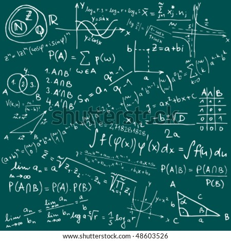 Mathematical equations and formulas - vector illustration