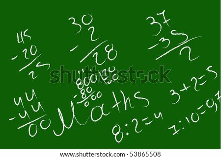 Mathematical examples on the blackboard