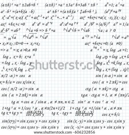 mathematical formulas drawn on