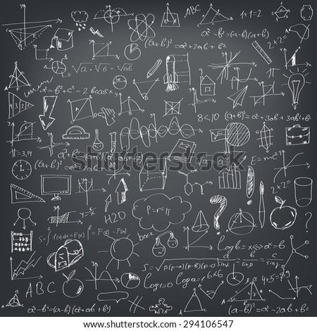 mathematical formulas on a