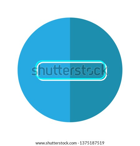 mathematical minus colorful outline icon,financial minus icon