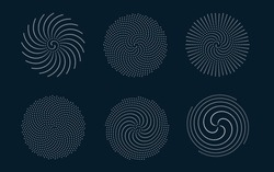 Mathematical morphology - visualization of phyllotaxis spiral types - code of nature - vector concept of mathematical function