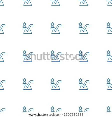 mathematical square icon pattern seamless white background. Editable outline mathematical square icon. mathematical square icon pattern for web and mobile.